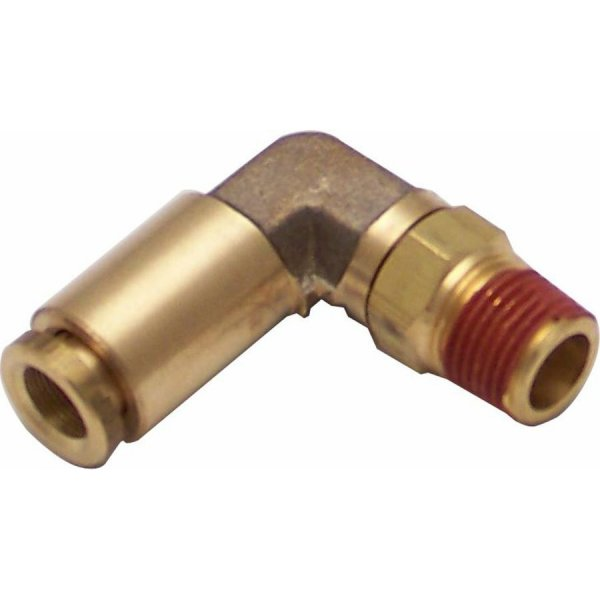 Quot npt male to push tube elbow air fitting